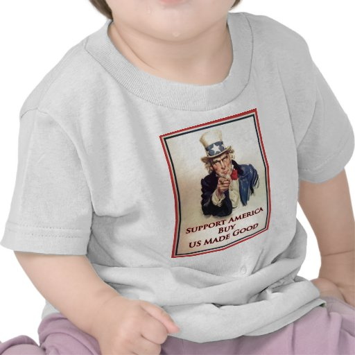 Buy US Goods Uncle Sam Poster T Shirt