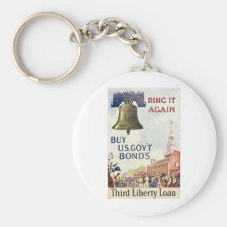 Buy US Govt Bonds Basic Round Button Keychain