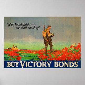 Buy Victory Bonds ~ Vintage World War 1. Poster