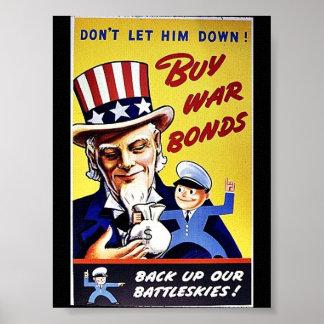Buy War Bonds , Back Up Our Battleskies Poster