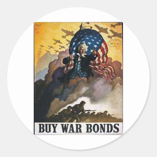 Buy War Bonds! Classic Round Sticker