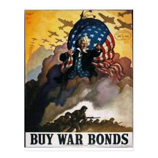 Buy War Bonds! Postcard