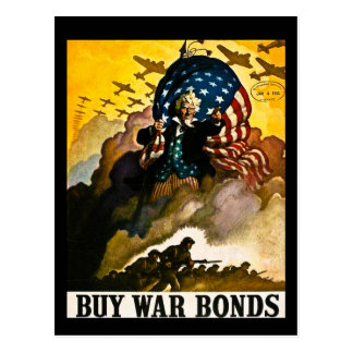 Buy War Bonds Vintage Postcard
