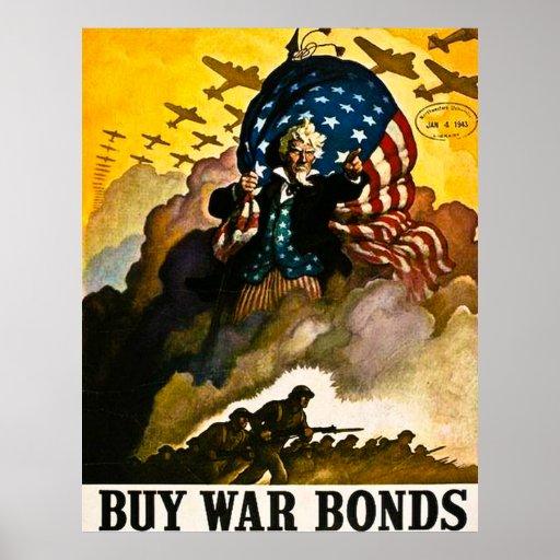 Buy War Bonds Vintage Unlce Sam Poster