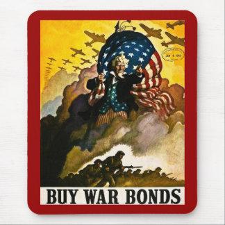 Buy War Bonds - Vintage World War II Mouse Pad