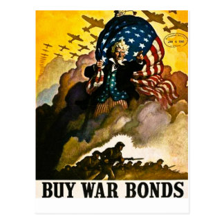 Buy War Bonds - Vintage World War II Postcard