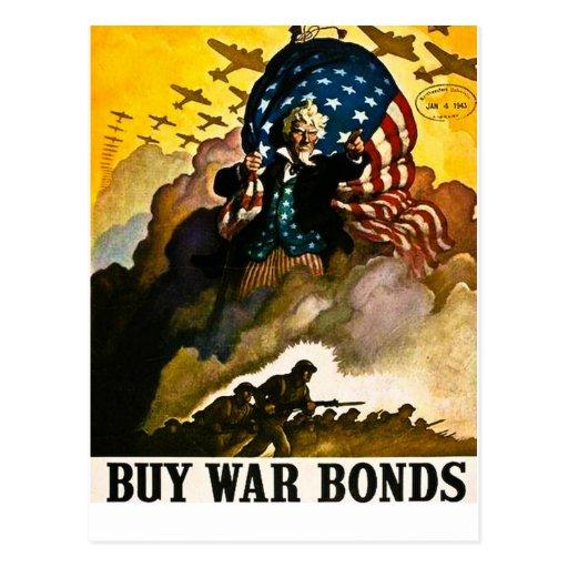 Buy War Bonds - Vintage World War II Postcards