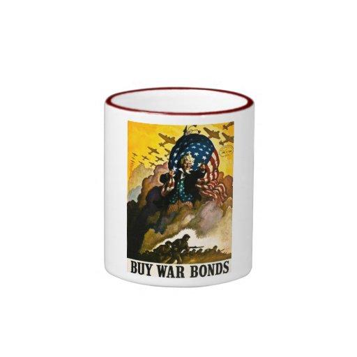Buy War Bonds - Vintage World War II Ringer Mug