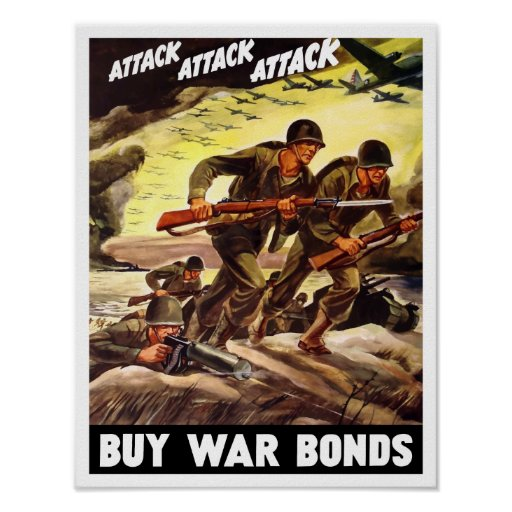 Buy War Bonds -- WW2 Propaganda Print