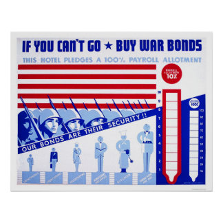 Buy War Bonds WWII 1942 WPA Poster