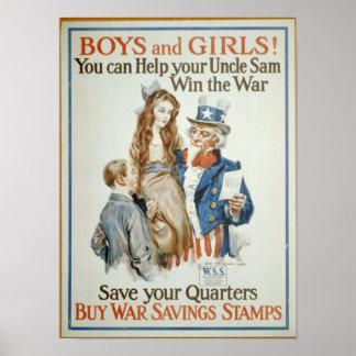 Buy War Savings Stamps Print