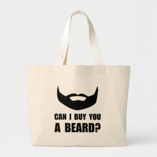Buy You A Beard Large Tote Bag