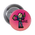 buyer badge. pins