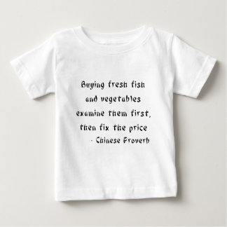 Buying fresh fish and vegetables examine them baby T-Shirt