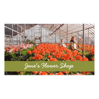 Buying Greenhouse Flowers Business Card