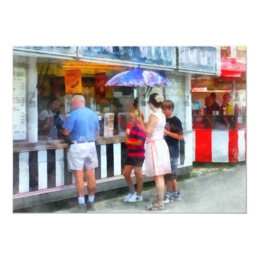 Buying Ice Cream at the Fair Card