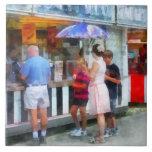Buying Ice Cream at the Fair Ceramic Tiles