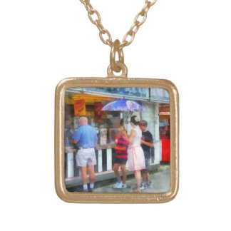 Buying Ice Cream at the Fair Custom Necklace