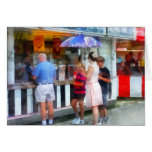 Buying Ice Cream at the Fair Greeting Card