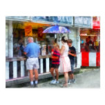 Buying Ice Cream at the Fair Post Card