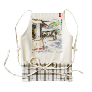 Buying items in these shops on the street zazzle HEART apron