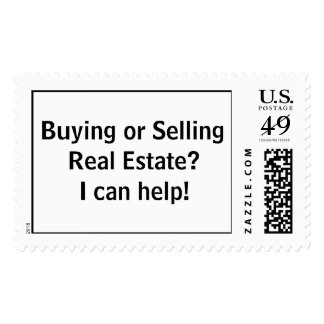 Buying or Selling Real Estate I can help Postage