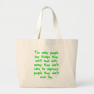 Buying Things Canvas Bags