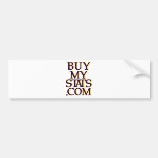 BuyMyStats.com 3D Logo Black w/ Gold Shadow Bumper Sticker