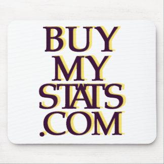 BuyMyStats.com 3D Logo Black w/ Gold Shadow Mouse Pad