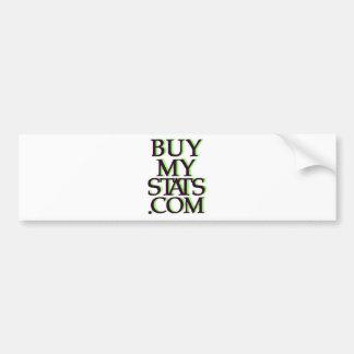 BuyMyStats.com 3D Logo Black w/ Green Shadow Bumper Sticker