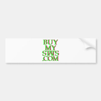 BuyMyStats.com 3D Logo Green w/ Maroon Shadow Bumper Sticker