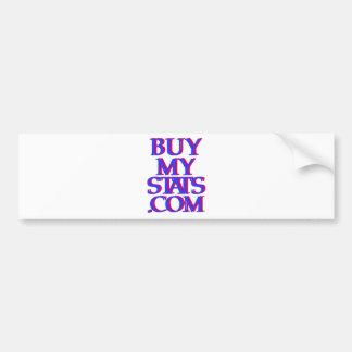 BuyMyStats.com 3D Logo Indigo w/ Red Shadow Bumper Sticker