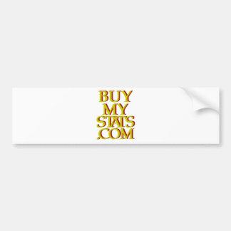 BuyMyStats.com 3D Logo Mustard w/ Maroon Shadow Bumper Sticker