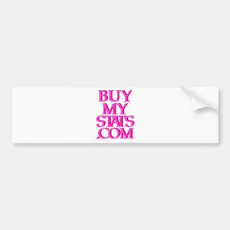 BuyMyStats.com 3D Logo Pink w/ Maroon Shadow Bumper Sticker