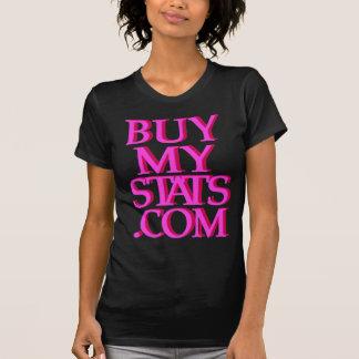 BuyMyStats.com 3D Logo Pink w/ Maroon Shadow T-Shirt
