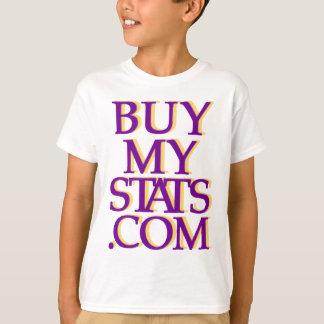 BuyMyStats.com 3D Logo Purple w/ Yellow Shadow T-Shirt