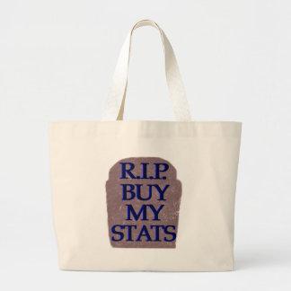 BuyMyStats Tombstone Black Blue Canvas Bag