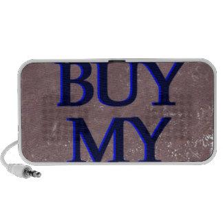 BuyMyStats Tombstone Black Blue Notebook Speaker