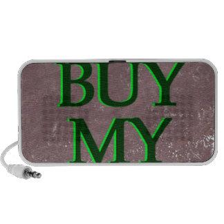 BuyMyStats Tombstone Black Green Travel Speaker