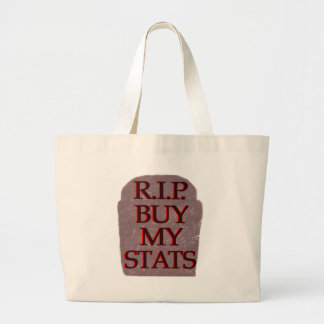 BuyMyStats Tombstone Black Red Tote Bag