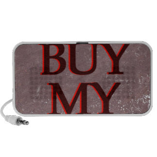 BuyMyStats Tombstone Black Red Laptop Speakers