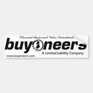 buyoneers bumper sticker
