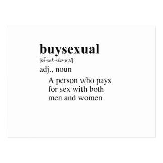 BUYSEXUAL POSTCARD