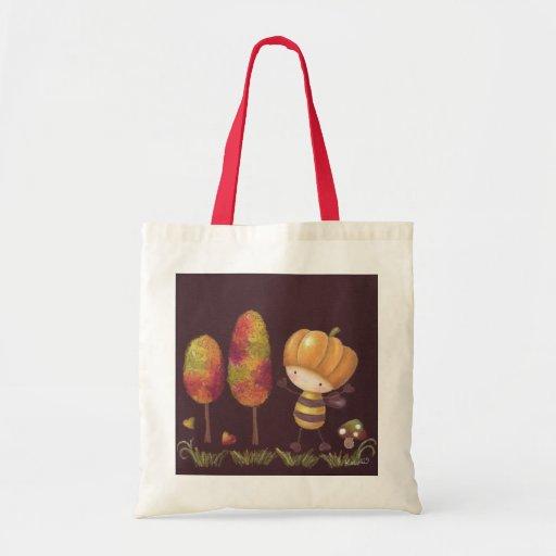 Buz-buz toma un bolso del paseo del otoño bolsa tela barata