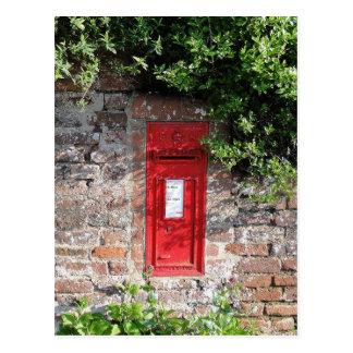Buzón británico de la pared tarjeta postal