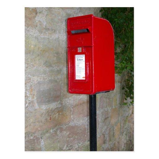 Buzón de correos británico tarjetas postales