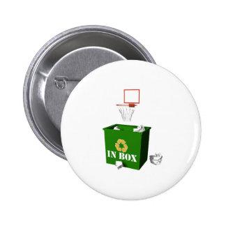Buzón de entrada-Baloncesto Pin Redondo 5 Cm