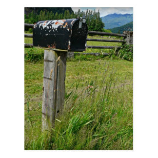 Buzón del metal del estilo rural postales