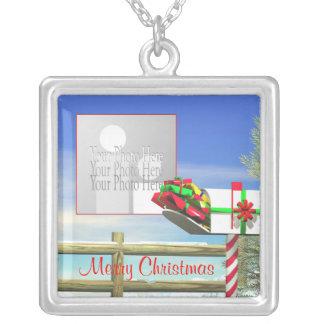 Buzón del navidad marco de la foto joyeria personalizada