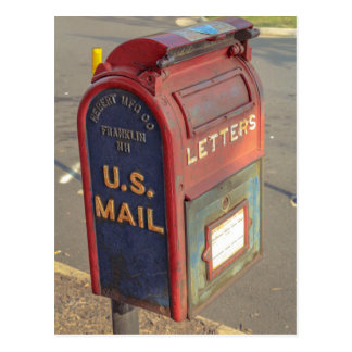 Buzón del vintage postal